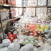 Tea sets for sale at Cho Dong Ba, the main city market in Hue, Vietnam.