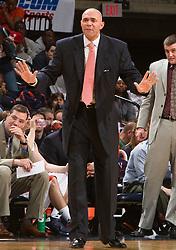 Virginia head coach Dave Leitao.  The Virginia Cavaliers fell to the Miami Hurricanes 62-55 at the John Paul Jones Arena on the Grounds of the University of Virginia in Charlottesville, VA on February 26, 2009.