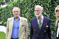 Left to right, MR MARK SHAND and HRH PRINCE MICHAEL OF KENT at a luncheon hosted by Cartier for their sponsorship of the Style et Luxe part of the Goodwood Festival of Speed at Goodwood House, West Sussex on 1st July 2012.
