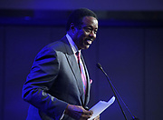 Aug 29, 2018; Los Angeles, CA, USA; Jim hill emcees the Los Angeles Rams Kickoff for Charity Luncheon at the InterContinental Los Angeles Downtown Hotel.