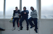 Three lads posing for camera, UK, 2000's