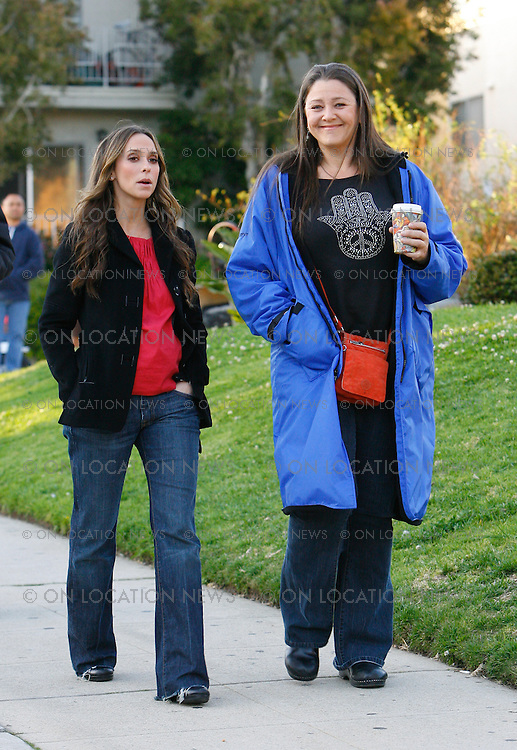 Los Angeles, CA March 10th 2009 Non Exclusive. Jennifer Love Hewitt with a fake pregnant belly on the set of Ghost Whisperer with actors Camryn Manheim and Christoph Sanders. In some of these photos an unexplained blue orb appears to be floating around the actors while filming a particular scene. This unusual light was not noticed on the set during the filming. Jennifer Love Hewitt has previously stated that she thinks the Ghost Whisperer set is sometimes haunted and that she has seen premonitions and anomalies on the set before.  On Location News Eric Ford 818-613-3955 info@onlocationnews.com