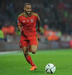 Jazz Richards of Wales (Swansea City) - Photo mandatory by-line: Alex James/JMP - Mobile: 07966 386802 - 12/06/2015 - SPORT - Football - Cardiff - Cardiff City Stadium - Wales v Belgium - Euro 2016 qualifier