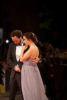 Director Drake Doremus and Sasha Kozlov at the gala screening for the film Equals at the 72nd Venice Film Festival, Saturday September 5th 2015, Venice Lido, Italy.