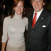 NLD/Amsterdam/20060906 - Modeshow Monique Collignon winter 2006, Ed Nijpels en partner Elsbeth Janmaat