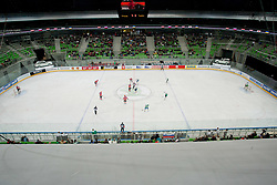 View on ice rink during ice-hockey friendly match between legends of HDD Tilia Olimpija and HK Acroni Jesenice, on April 14, 2012 at SRC Stozice, Ljubljana, Slovenia. (Photo By Matic Klansek Velej / Sportida.com)