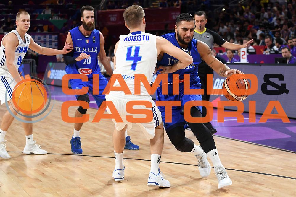 Pietro Aradori<br /> Nazionale Italiana Maschile Senior<br /> Eurobasket 2017 - Final Phase - Round of 16<br /> Finlandia Italia Finland Italy<br /> FIP 2017<br /> Istanbul, 09/09/2017<br /> Foto M.Ceretti / Ciamillo - Castoria