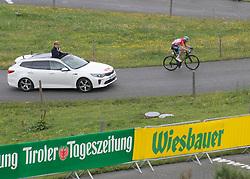 12.07.2019, Kitzbühel, AUT, Ö-Tour, Österreich Radrundfahrt, 6. Etappe, von Kitzbühel nach Kitzbüheler Horn (116,7 km), im Bild Ben Hermans (BEL, Israel Cycling Academy) im roten Flyeralarm Trikot des Gesamtführenden der Österreich Rundfahrt // Ben Hermans of Belgium Team Israel Cycling Academy in the red Flyeralarm overall leaders jersey during 6th stage from Kitzbühel to Kitzbüheler Horn (116,7 km) of the 2019 Tour of Austria. Kitzbühel, Austria on 2019/07/12. EXPA Pictures © 2019, PhotoCredit: EXPA/ Reinhard Eisenbauer