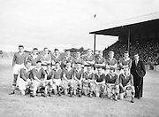 Neg No: .876/a1984-a1989..1955AIJFCF...1955. All Ireland Junior Football Championship - Home Final..18.09.1955, 09.18.1955, 18th September 1955.Cork.03-10..Derry.01-07...Cork. ...L. Power, T. Moynihan, Dermot O'Sullivan, T. O'Callaghan, T. Connolly, B. O'Sullivan, Paddy Murphy, J. Collins, T. Furlong, D. Murphy, Dermot O'Donovan, Bob Troy, D. J. O'Sullivan, R. Nutly, O. McAuliffe (Captain).Subs: P. J. Kelly for P. Murphy, P. Murphy for T. Moynihan.O. McAuliffe (Captain). ..