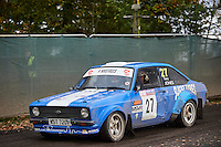 #27 Martin Hodgson / Tony Jones Ford Escort Mk2 S&HMC Tia Structures, Slicks Tyres, Cetus Solutionsduring Neil Howard Memorial Stage Rally, and opening round of the 2015 Motorsport News Rally Championship.  at Oulton Park, Little Budworth, Cheshire, United Kingdom. November 07 2015. World Copyright Peter Taylor. Copy of publication required for printed pictures.  Every used picture is fee-liable. http://archive.petertaylor-photographic.co.uk