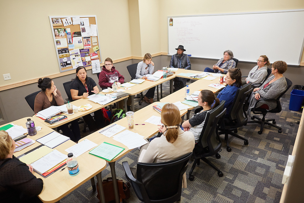 Activity; Collaboration; Community Service; Buildings; Centennial; Fall; October; Location; Inside; Type of Photography; Candid; UWL UW-L UW-La Crosse University of Wisconsin-La Crosse; School of Education Grow Our Own program
