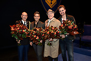 Premiere Baantjer LIVE - 2 in DeLaMar Theater, Amsterdam.<br /> <br /> Op de foto:  Cast met Peter Tuinman , Peter Romer en  Beau Schneider met Andre Hazes Jr.