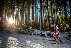 Dominik Landertinger (AUT) in action during the Men 10km Sprint at day 6 of IBU Biathlon World Cup 2018/19 Pokljuka, on December 7, 2018 in Rudno polje, Pokljuka, Pokljuka, Slovenia. Photo by Vid Ponikvar / Sportida
