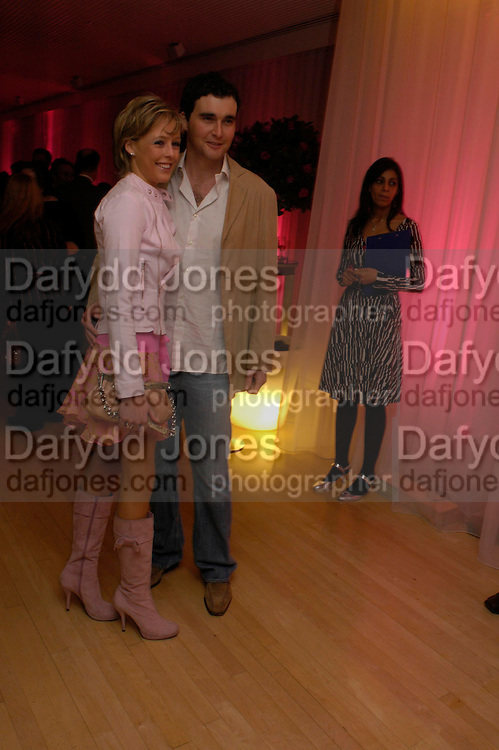 Lady Alexandra Spencer-Churchill and David Peacock. The Laurent-Perrier Pink Party in aid of The Prince's Trust at the Sanderson Hotel on April 27, 2005. ONE TIME USE ONLY - DO NOT ARCHIVE  © Copyright Photograph by Dafydd Jones 66 Stockwell Park Rd. London SW9 0DA Tel 020 7733 0108 www.dafjones.com