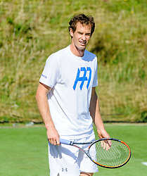 &copy; Licensed to London News Pictures. <br /> The Championship Wimbledon 2017 Wimbledon, UK. 02 07 2017<br /> CAPTION:   Andy Murray practice session on the Aorangi Park court 15 at Wimbledon the day before the start of the 2017 Championship.<br /> Photo credit: Peter van den Berg/LNP