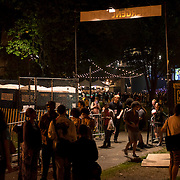 June 4, 2014 - New York, NY : Celebrate Brooklyn! held it's opening night gala and concert -- featuring Janelle Monáe -- in Prospect Park on Wednesday night. Pictured here, concertgoers leave the Bandshell after the show.<br /> CREDIT: Karsten Moran for The New York Times
