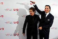 Al Pacino, left, and Andy Garcia arrive at the American Film Institute Life Achievement Award event honoring Pacino in Los Angeles California 07 June 2007