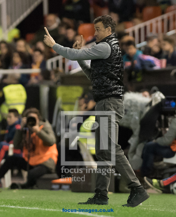 Luis Enrique head of FC Barcelona during the Copa Del Rey match at Mestalla, Valencia<br /> Picture by Maria Jose Segovia/Focus Images Ltd +34 660052291<br /> 10/02/2016