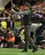 Luis Enrique head of FC Barcelona during the Copa Del Rey match at Mestalla, Valencia<br /> Picture by Maria Jose Segovia/Focus Images Ltd +34 660052291<br /> 10/02/2016