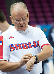 Coach Dusan Ivkovic at practice of Serbian National Basketball team in Arena Torwar two days before the beginning of the Eurobasket 2009, on September 05, 2009 in Warsaw, Poland. (Photo by Vid Ponikvar / Sportida)