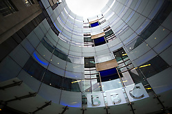 © London News Pictures. 10/11/2012. London, UK. General View of BBC Broadcasting House in London on November 10, 2012. The BBC has apologised for a 'totally unacceptable' Newsnight report that wrongly implicated former Tory treasurer Lord McAlpine in north Wales child sex scandal Photo credit: Ben Cawthra/LNP