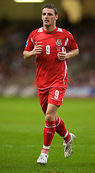 CARDIFF, WALES - Friday, September 5, 2008: Wales' Jason Koumas in action against Azerbaijan during the opening 2010 FIFA World Cup South Africa Qualifying Group 4 match at the Millennium Stadium. (Photo by David Rawcliffe/Propaganda)