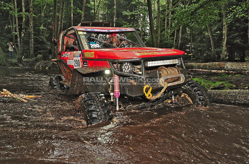 19. Rallye Breslau 2012.#290 - Cédric Porcher (Toyota Mud Racer)..© Robert W. Kranz / Rallyewerk