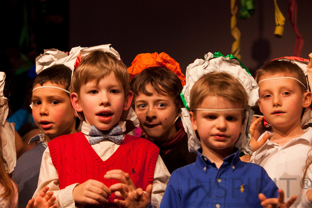 Children from the International Montessori School in Brussels at the annual music performance at the Cultural Centre 'De Kam', Wezembeek-Oppem, just outside Brussels. PHOTO: ERIK LUNTANG / INSPIRIT Photo.
