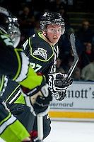 KELOWNA, CANADA -FEBRUARY 7: Curtis Lazar #27 of the Edmonton Oil Kings skates against the Kelowna Rockets on February 7, 2014 at Prospera Place in Kelowna, British Columbia, Canada.   (Photo by Marissa Baecker/Getty Images)  *** Local Caption *** Curtis Lazar;