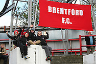 Picture by David Horn/Focus Images Ltd +44 7545 970036.27/04/2013.Young Brentford fans before the npower League 1 match at Griffin Park, London.