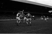17/10/1965<br /> 10/17/1965<br /> 17 October 1965<br /> Oireachtas Final: Kilkenny v Tipperary at Croke Park, Dublin.<br /> Kilkenny forward bottled up by Tipperary forwards.