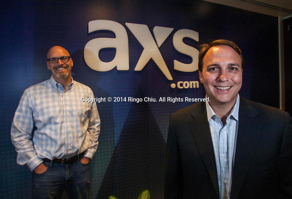 Tom Andrus, left, and Bryan Perez, executives at AEG's ticketing firm, AXS. (Photo by Ringo Chiu/PHOTOFORMULA.com)