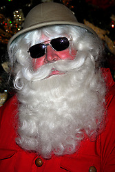 Harrods Christmas World - Father Christmas promotes the store's new Christmas department. Photo By i-Images