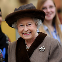 29-02-2008. INS News Agency Ltd<br />Picture by Blake-Ezra Cole<br /><br />The Queen meets staff of New Look whilst officially opening the modern extension to Windsor's Royal Shopping Arcade.