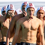 11/4/2016 - Saddleback College men's water polo team faces the disappointment of their defeat against Golden West College in Mission Viejo, CA.<br /> <br /> © 2016 Jayme Spoolstra/Sports Shooter Academy