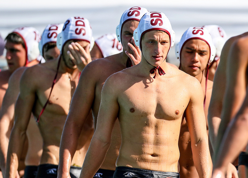 11/4/2016 - Saddleback College men's water polo team faces the disappointment of their defeat against Golden West College in Mission Viejo, CA.<br /> <br /> &copy; 2016 Jayme Spoolstra/Sports Shooter Academy