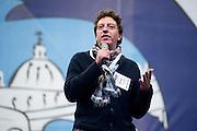 2013/05/23 Roma, il Movimento 5 Stelle chiude la campagna elettorale per le comunali. Nella foto Maurizio Buccarella..Rome, M5S (five stars movement) closes his electoral campaign for mayor. In the pictureMaurizio Buccarella- © PIERPAOLO SCAVUZZO
