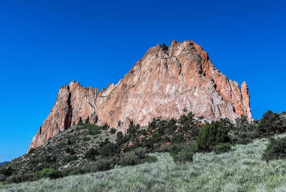 Cathedral Rock, Garden Of The Gods, Colorado Springs, Colorado, USA.