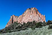 Cathedral Rock, Garden Of The Gods, Colorado Springs, Colorado, USA.
