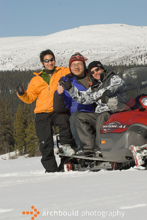 Men enjoying the outdoors in the Yukon<br /> <br /> NOT IN YOUR BUDGET? Contact Cathie for a price specific to your project.