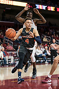 Pepperdine Waves guard Colbey Ross (4) drives baseline against Southern California Trojans forward Onyeka Okongwu (21) during an NCAA college basketball game, Tuesday, Nov. 19, 2019, in Los Angeles. USC defeated Pepperdine 91-84. (Jon Endow/Image of Sport)