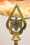 German Nazi standard with swastika and eagle REME museum, MOD Lyneham, Wiltshire, England, UK