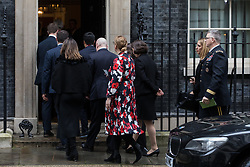 London, UK. 30 January, 2020. The delegation accompanying US Secretary of State Mike Pompeo arrives at 10 Downing Street for a meeting with Prime Minister Boris Johnson. Topics to be discussed are expected to include the role of Chinese multinational technology company Huawei in the construction of the UK's 5G digital network.