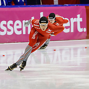 NLD/Heerenveen/20130112 - ISU Europees Kampioenschap Allround schaatsen 2013 dag 2, 1500 meter heren, Sverre Lunde Pedersen - Håvard Bøkko