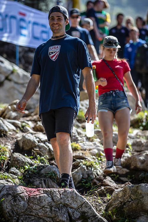 Dakotah Norton (USA) during the track walk at the 2018 UCI MTB World Championships - Lenzerheide, Switzerland