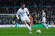 Leeds United forward Tyler Roberts (11) passes the ball during the EFL Sky Bet Championship match between Leeds United and Blackburn Rovers at Elland Road, Leeds, England on 9 November 2019.