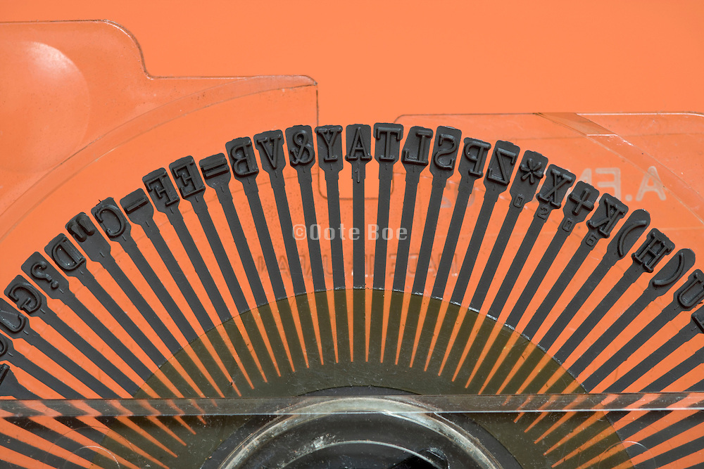 the Prestige letter type wheel of a traditional electronic typewriter