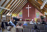 Russell Zerbo of the Clean Air Council speaks at a discussion about the proposed Elcon hazardous waste incinerator at United Christian Church Sunday April 3, 2016 in Falls Township, Pennsylvania. (Photo by William Thomas Cain)
