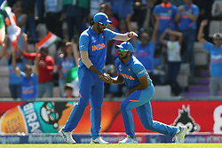 India's Vijay Shankar celebrates catching out Afghanistan's Gulbadin Naib during the ICC Cricket World Cup group stage match at the Hampshire Bowl, Southampton.