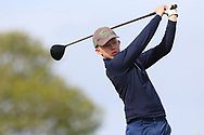 Cian O'Sullivan (Killiney) on the 1st tee during Round 2 of the Connacht U16 Boys Amateur Open Championship at Galway Bay Golf Club, Oranmore, Galway on Wednesday 17th April 2019.<br /> Picture:  Thos Caffrey / www.golffile.ie